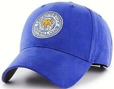 LEICESTER CITY FC EMBROIDERED CREST ADULT ADJUSTABLE ROYAL BASEBALL CAP LCFC