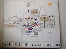 Vintage Saul Steinberg Galerie Maeght Lithograph Print Poster-Gold Seal-1970