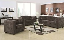 Transitional Charcoal Velvet 2Piece Sofa Set Sofa Loveseat Living Room Furniture
