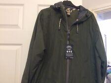 Weird Fish Dark Olive Waterproof Range Mans Jacket Hooded Size Medium BNWTS