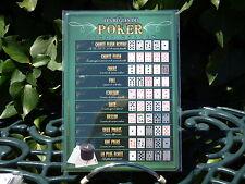 PLAQUE METAL RUE DECORATION 15x21cm POKER combinaison jeux casino cartes humour