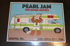 Pearl Jam Seattle 2018 Poster- Home Shows- Shuss Show Edition