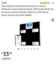 Toye Digital Scale Bathroom Body Fat, Smart Bathroom Scales Digital Weight, BMI