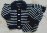 KNITTING PATTERN 46 to knit babys hat cardigan & mitts in 3 sizes (INSTRUCTIONS)