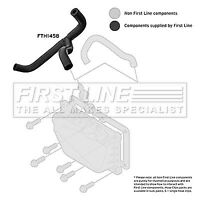 First Line Front Left Lower Crankcase Breather Hose Vent FTH1458 - 5YR WARRANTY