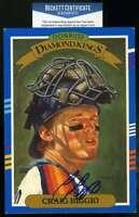 Craig Biggio Bas Beckett Coa Autograph 1990 Donruss 5x7 Diamond Kings Signed