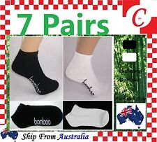 7pairs Women LOW-CUT Bamboo Cushion Sport Ankle SOCKS Odor Resistant Healthy