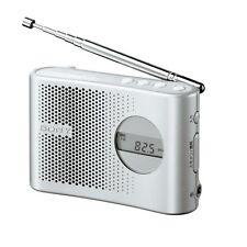 SONY ICF-M55/S FM/AM Portable Radio PLL synthesizer handy ICFM55 Silver /GENUINE