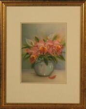 """Anna Chen Pencil Signed Still Life Floral Print: """"Iris with Lillies"""""""