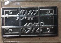 1972 Washington Mint CANCELED 25th Anniversary 1947-1972 20 Grams Silver Art Bar