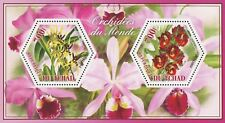 Orchid Flower Brassia Catasetum Souvenir Sheet of 2 Stamps Mint NH