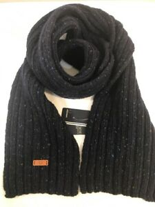 Fred Perry Donegal Ribbed Scarf Navy