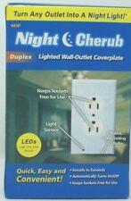 Night Cherub Duplex Night Light Sensor LED Plug Cover Wall Outlet Cover Plate