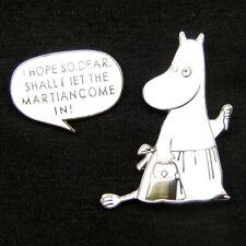 2pcs Moomin Cartoon Comic Character Unisex Silver Lovely Fun Brooch Lapel Pin