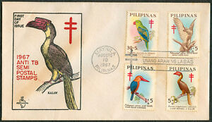 1967 Philippines ANTI-TB SEMI-POSTAL STAMPS First Day Cover - A