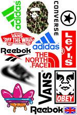 A5 Size Brand Logo Skateboard Luggage Laptop Bike Phone Vinyl Stickers S0532
