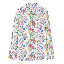 NWT 165USD DM floral print ivory silk shirt blouse size L equipment fabric