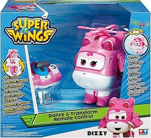 Super Wings Dizzy Dance & Transform Remote Control Plane To Bot New Xmas Toy 3+