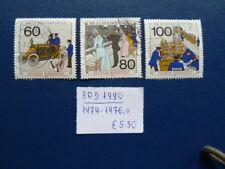 BRD 1990, Wohlfahrt: Geschichte der Post und Telekommunikation, Mi 1474-1476, o