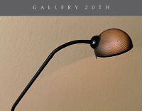COOL! MID CENTURY MODERN STYLED BLACK FLOOR LAMP! ATOMIC SCREEN LOOK! GOOSENECK