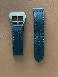 Officine Panerai Authentic 24mm Black Leather Strap + Buckle