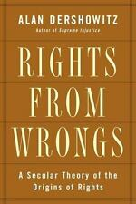 BOOK HC Politics & Philosophy RIGHTS FROM WRONGS