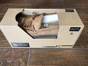 Los Angels Chargers NFL Moccasin Slipper Tan Size 13-14