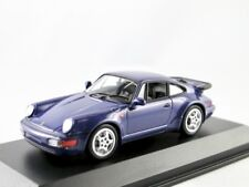 Porsche 911 turbo  (964)   1990  veilchenblau metallic   / Minichamps  1:43