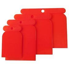 Amtech 4 Sizes Reusable Flexible Plastic Scraper Cleaning Filling Scraping Set