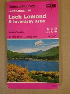 Landranger 56 Map Loch Lomond & Inveraray O S Ordnance Survey 1989