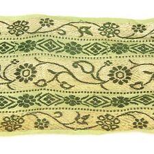 1m (3 foot) LONG Old Antique India SARI Saree TRIM Embroidered Textile 652j4