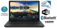 "HP 15.6"" Touchscreen Laptop 4GB 1TB Intel Pentium Quad-Core WiFi AC Bluetooth 5+"