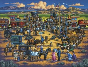 Jigsaw puzzle American History Golden Spike Promontory 500 piece NEW Made in USA