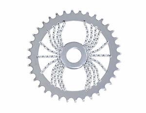 Bicycle LOWRIDER SPROCKET Spider Twisted  1/2 X 1/8 36t  CHROME BMX Show Bike