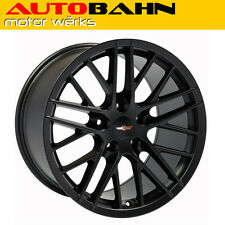 18x8.5 Matte Black C6 Corvette ZR1 Style Wheel Rim Fits Camaro Firebird IH0311