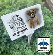 Dog Grave marker, memorial stake and photo plaque, Any personalised design.