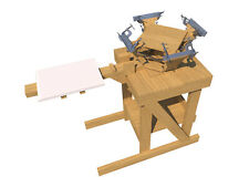 Build your own 4 color silk screening press (DIY Plans) Fun to build, Save Money