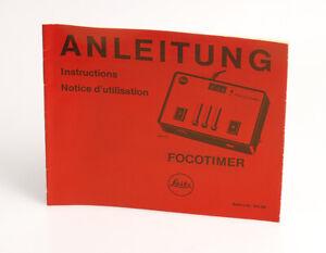 Leica Leitz Anleitung für den FOCOTIMER