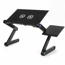 Portable Laptop Desk Folding Foldable Lap Tray Bed Adjustable Table Stand Mouse