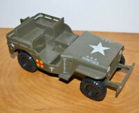 """Vintage MASH JEEP 1981 For 3.75"""" Action Figures Military Toy 1980s Television"""