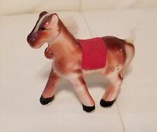 Vintage Small porcelain ceramic Miniature Horse Pony figurine collectible