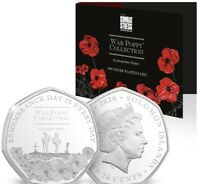 2020 War Poppy Collection 50p .999 Silver Plated Coin