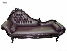 Chaise Lounge Sofa Vintage Gothic Baroque Longue French Antique Reproduction