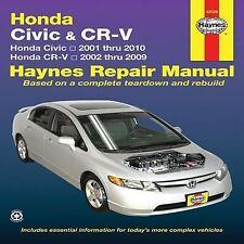 2001-2010 Haynes Honda Civic & 2002-2009 CR-V Repair Manual