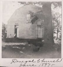 VINTAGE PHOTOGRAPH 1897 CHURCH DONEGAL SPRINGS MT. JOY PENNSYLVANIA OLD PHOTO