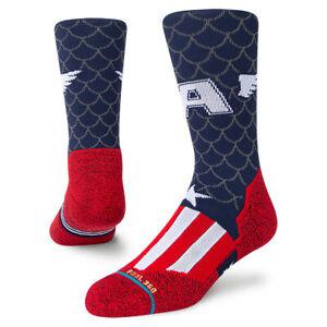 Stance x Captain America Athletic Socks Large Men's 9-13 Infiknit Run Socks