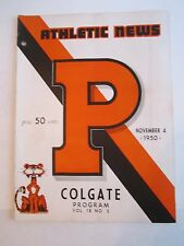 1950 PRINCETON VS COLGATE COLLEGE FOOTBALL PROGRAM - TUB BN-5