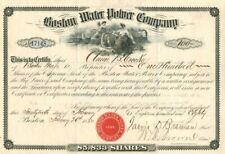 Boston Water Power Company - Stock Certificate