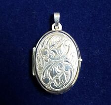 NEW Sterling Silver Oval Locket 925 Pendant Free Shipping Option Fits 2 Photos