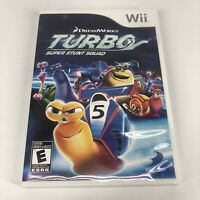 DREAMWORKS Turbo: Super Stunt Squad (Nintendo Wii, 2013) GAME COMPLETE w/MANUAL